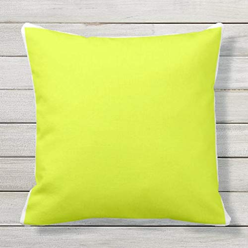 Viowr22iso Lumbar Pillow Covers, Custom solid plain bright yellow white frame Cushion Cover Pillow Case 22x22 Inch for Sofa Couch Decoration