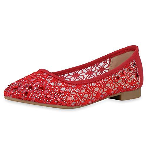 SCARPE VITA Klassieke Dames Ballerina Piek Strass Vrijetijd Schoenen Comfortabel Flats Elegant Instapschoenen