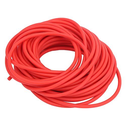 VGEBY Tubo de látex para tirachinas, Banda de Goma para Tubo de látex, catapulta para Caza, Bungee Redondo, Accesorios para tirachinas para Bricolaje (Rojo, 10 m)(2040)