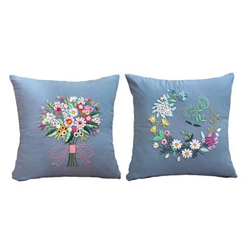 kowaku Kits de Punto de Cruz de Cinta de Flores de 2 Uds