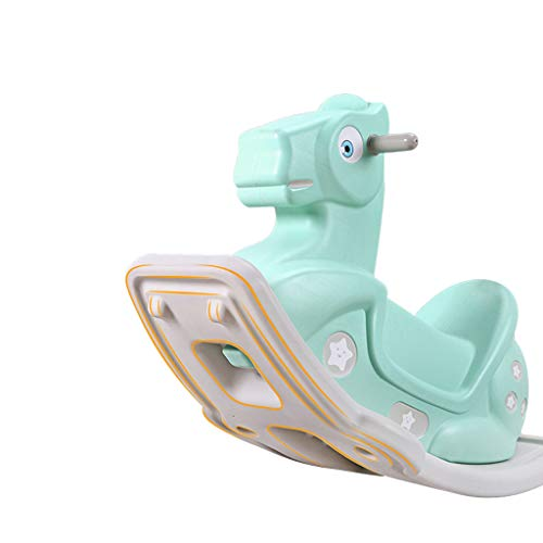 Cheval à Bascule pour Enfants Jouet Bébé Trojan Cheval à Bascule Grand Bébé épais 1-2 Ans Cadeau Anniversaire Mode
