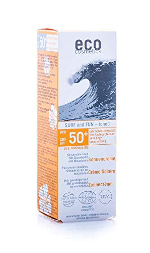 eco cosmetics Surf & Fun Sonnencreme LSF 50+ getönt