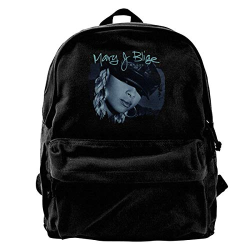 Yuanmeiju Leinwand Rucksack Mary J Blige Mein Leben Rucksack Fitnessstudio Wandern Laptop Umhängetasche Tagesrucksack für Männer Frauen
