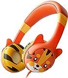 KidRox Tiger-Ear Kids Headphones, 85dB Volume Limited, Adjustable and Safe Hearing Protection, Tangle