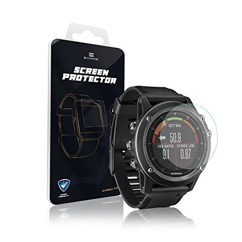 EXINOZ Garmin Fenix3 Screen Protector I Protection with 1-Year Replacement Warranty I Get The Best for Your Garmin Fenix3 Smart Watch