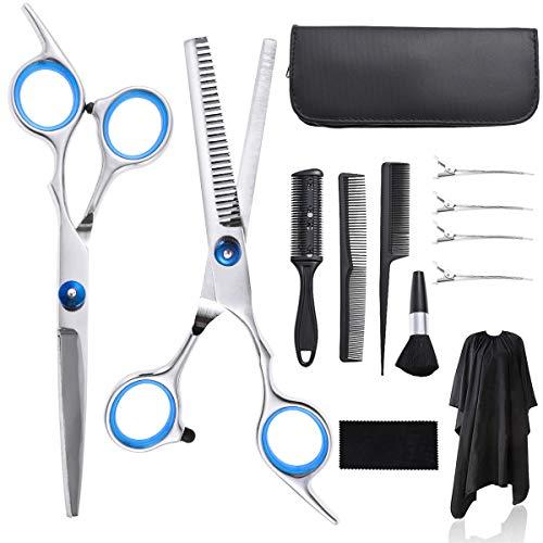 Haarschere Set,Nabance 13 Stk scharfe Friseurschere set,Licht Einseitiger Effilierer Friseurscheren Haarschneideschere Profi Haar Schneiden kit Friseur-Sets Haarschnitt Frisörschere