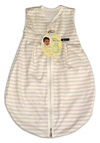 Alvi Baby Mäxchen Light Schlafsack Blockstreifen beige 70cm