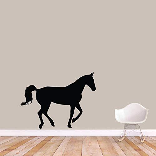 Hanzeze Horse silhouet keuken badkamer huis garderobe spel Cartoon hemel sticker muur kunst DIY 42x56cm