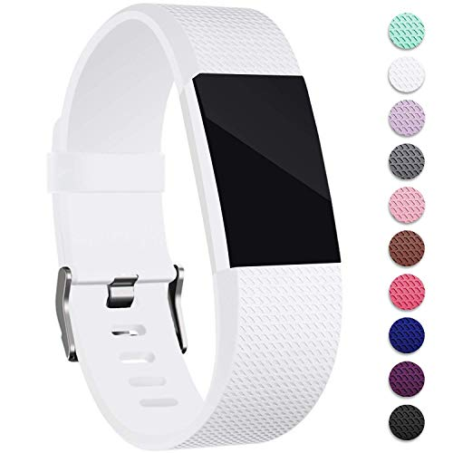 Mornex Für Fitbit Charge 2 Armband, Original Ersatzarmband Sport Fitness Watch Band Small, White