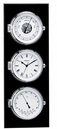 Wempe Kombination Eleganz: Schiffsuhr, Barometer und Hygrometer inkl. Thermometer