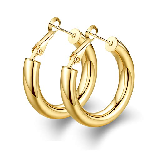 wowshow Chunky Thick Good Tube Hoops Earrings for Women