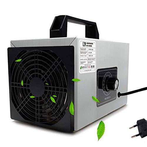 O3 Premium/Generador de ozono Industrial 36,000mg, HR 220v, Limpiador de ozono, Dispositivo de ozono para Habitaciones, Humo, Coches y Mascotas.Tecnologia Honey-Comb-Tec© … (36.000mg Prime)