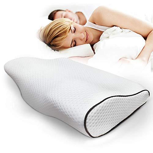 FMXYMC Memory Foam Kissen Bettwäsche Schlaf Reise Schützen Nacken Langsamer Rückpralldruck Faser Orthopädisches Massagegerät für die zervikale Gesundheitspflege