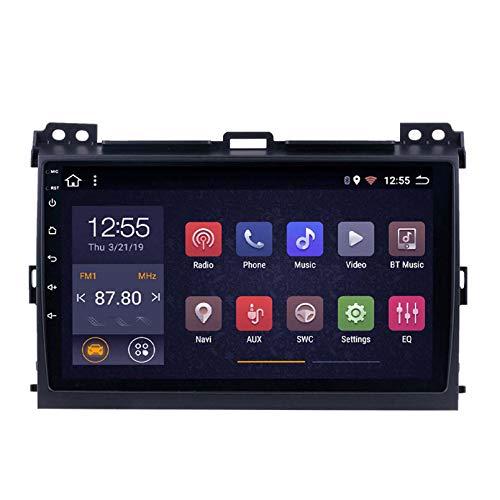 Android 8.1 Radio De Automóvil Para Toyota Land Cruiser Prado 120 2004-2009 Coche Estéreo GPS Navegación Táctil Mostrar Coche Reproductor Doble Din Head Unit Support WiFi Control Del(Color:WIFI:1+16G)