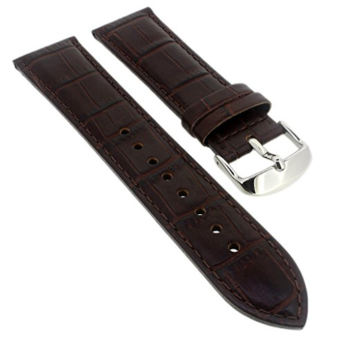 Correa de repuesto para reloj Casio Edifice de piel marrón con relieve de cocodrilo EF-524L