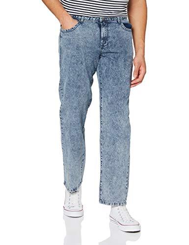 Urban Classics Herren Loose Fit Jeans Hose, Light SkyBlue Acid Washed, 36/32
