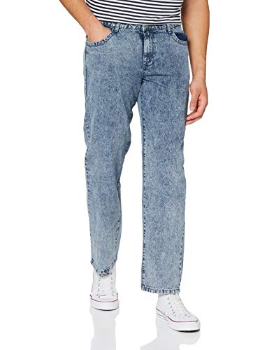 Urban Classics Loose Fit Jeans Pantaln, Light Skyblue Acid Washed, 32W x 32L para Hombre