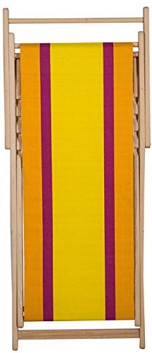 Chaise longue transat chilienne Deauville jaune - Les Toiles du soleil
