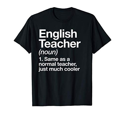 Profesor de Inglés Definition Funny escolar Camiseta