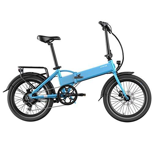 Legend eBikes Monza 36V10.4Ah Elektrische vouwfiets, uniseks, voor volwassenen, staal blauw, 36 V 10,4 Ah (374,4 Wh) accu