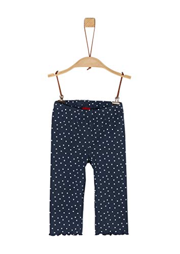 s.Oliver Junior Mädchen 403.10.005.18.183.2038659 Shorts, Blau (57A4 Dark Blue AOP), 110 REG
