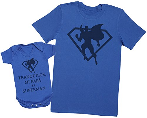 Zarlivia Clothing Tranquilos mi Papá es Super Man - Regalo para Padres y bebés en un Cuerpo para...
