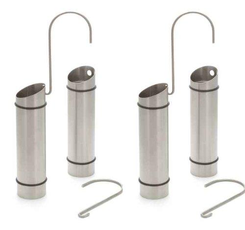 4 Stück Luftbefeuchter Wasserverdunster aus Edelstahl mit Abstandshalter