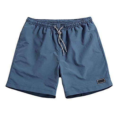 N\P Hombres Casual Transpirable Pantalones De Secado Rápido Bolsillos Playa Color Sólido Pantalones Cortos Deportivos