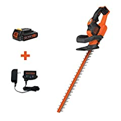 A Powerful 20 Volt MAX lithium Ion battery delivers power and extended run time 22 inches dual action blade to ensures less vibration while trimming Cuts branches up to 3/4 inches diameter Ergonomic grips and low vibration help you work longer and co...
