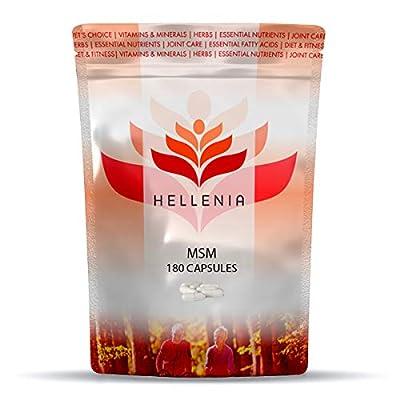 Hellenia MSM (Methyl Sulphonyl Methane) 1000mg - 180 Capsules - Joint Care Supplement