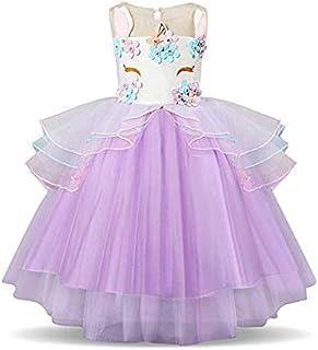 Baby Girl Unicorn Costume Dress Pageant Flower Princess Party Dress Evening & Formal Flower Girl Dress For Girls