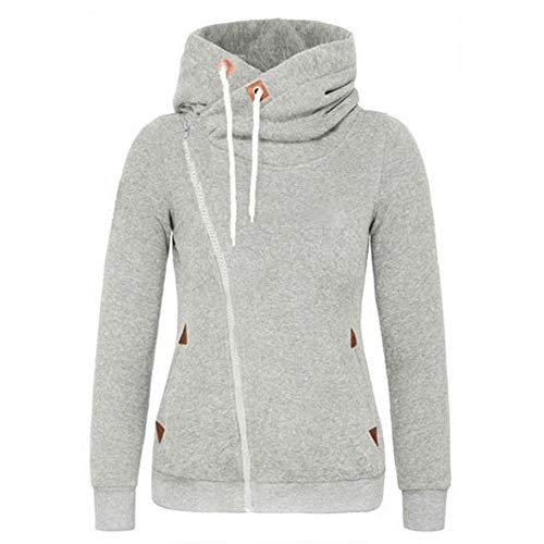 Derrick Aled(k) zhuke Frauen Herbst und Winter Cardigan Hoodie Casual Langarm Sweatshirt