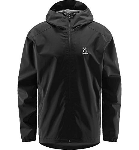 Haglöfs Hardshelljacke Herren Buteo Jacket wasserdicht, Winddicht, atmungsaktiv True Black XL XL