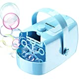 Bubble Machine - Automatic Bubble Maker - Portable Bubble Blower for Kids Adults,Powered by Plug in...