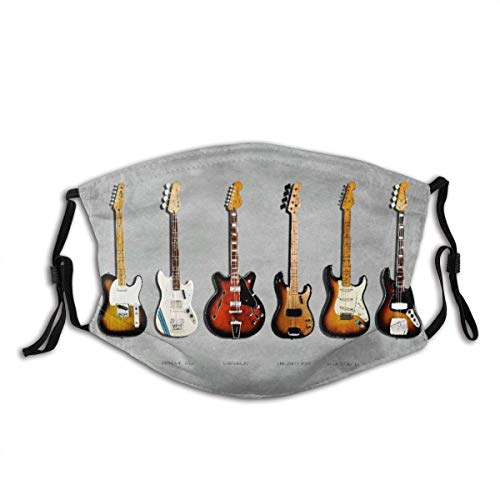 Stratocaster Telecaster Precision Bass Mustang Bass Fender Electric Guitar Music Unisex Washable and Reusable Cotton Warm Face Protection for Outdoor