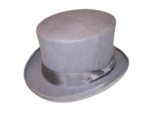VIZ Taille Petite Gris 100% Laine fabriqué à la Main 5 1/5,1 cm de Hauteur en Feutre Chapeau Haut-de-Forme