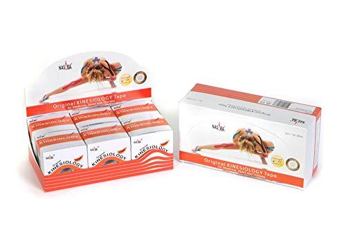 Nasara M9050-9 Original Kinesiology Tape, 6er-Box (5 cm x 5 m), Orange