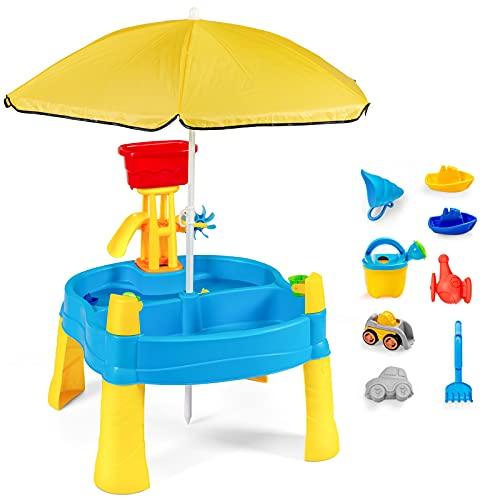 GOPLUS 2-in-1 Sandtisch Wassertisch,...