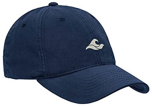 Koloa Surf Wave Logo Soft & Cozy Adjustable Baseball Cap-Navy/w