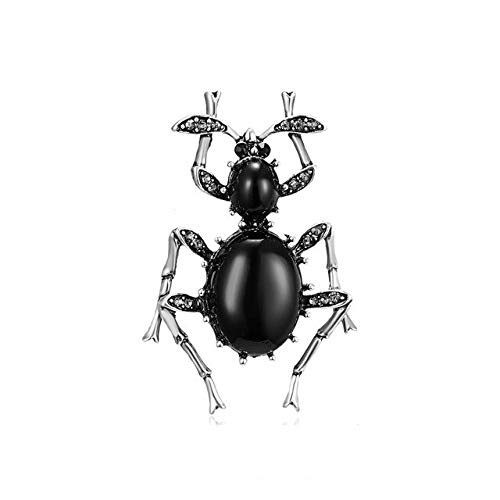 Broches de escarabajo de diamantes de imitación Broche de insectos de cristal Escarabajos Clip de bufanda de moda Broche de joyería Ramo Vintage Bugs Insignia de esmalte-2