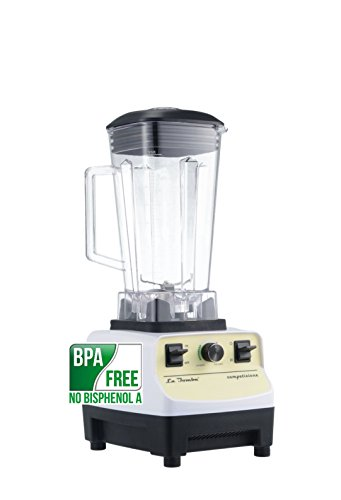 Mixer La Bomba® Competizione II, Hochleistungsstandmixer, Smoothiemaker, Profi Blender, bianco/lemon, 38000 rpm