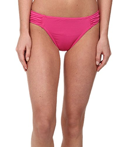 Tommy Bahama Women's Pearl Solids Side Shirred Hipster Bottoms Razzberry Swimsuit Bottoms XL (US 16)