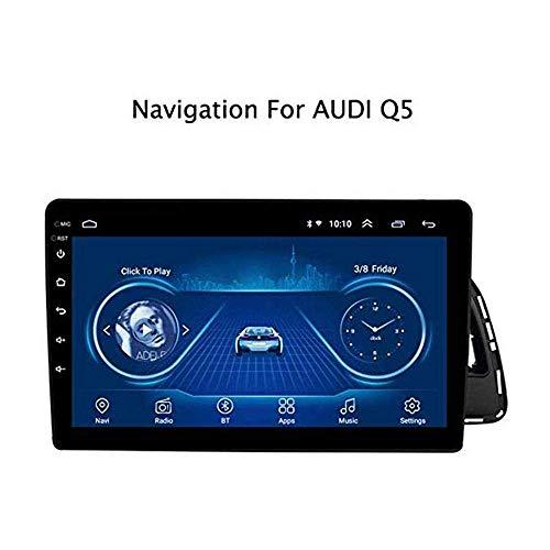 Car Stereo Android 8.1 Navegación Gps, Para Audi Q5 2010-2018, 10.1 Pulgadas De Pantalla Táctil Completa Reproductor Multimedia Radio, Bluetooth Fm Am Dab Usb Aux Espejo Control Del Volante, 4G + Wifi