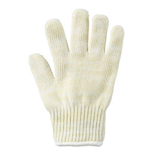 Relaxdays Gant anti-chaleur en fibres aramide taille universelle pour main gauche droite protection résistance haute température grill, beige