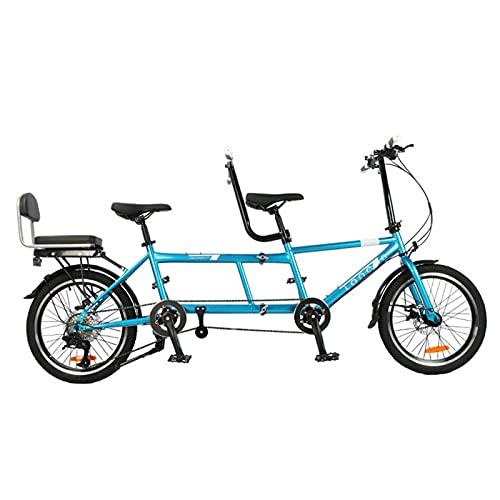 LJYTMZ 20 Tandem-Fahrrad Klappbares Fahrrad Camping Bike Klappfahrrad 8 Geschwindigkeiten