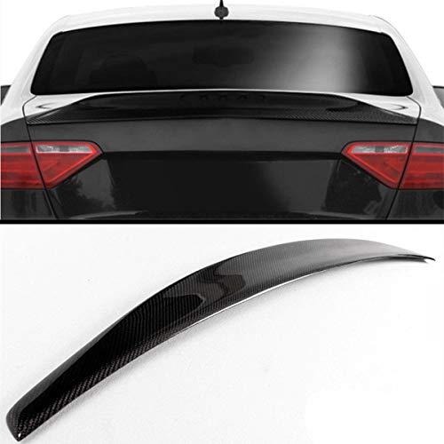 GLFDYC Schwarz Kohlefaser Auto Heckspoiler Kofferraumspoiler, für Audi A5 B8 B9 2Dr 2008-2016 Rear Heckkofferraum Spoilerflügel, Lippendeck Modifiziertes Winddruck Boot Wing