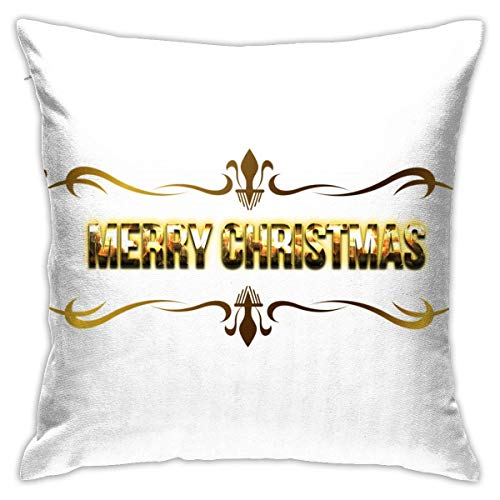 Throw Pillow Cover Cushion Cover Pillow Cases Decorative Linen Merry Christmas for Home Bed Decor Pillowcase,45x45CM