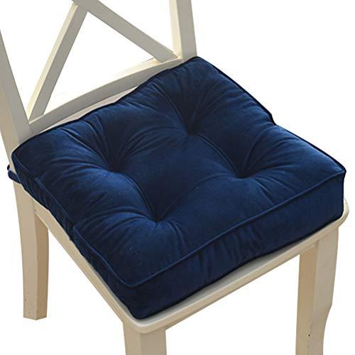 Cojín grueso de felpa para silla de jardín, cojín cuadrado para silla de comedor, cojín de ratán