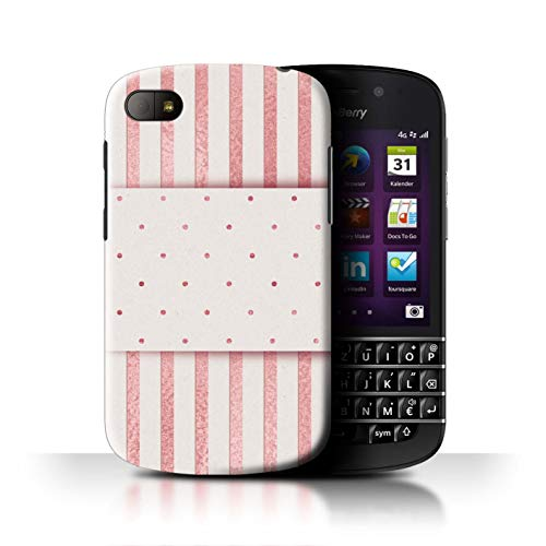 eSwish Phone Case/Cover/Skin/BB-CC/Rose Gold Pink Fashion Trend Collection Blackberry Q10 Dunne pin strepen Dotty Band
