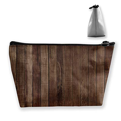 Old Barn Trousse de maquillage en bois portable étanche